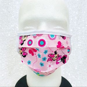 🔴4/$25 minnie mouse pink child face mask